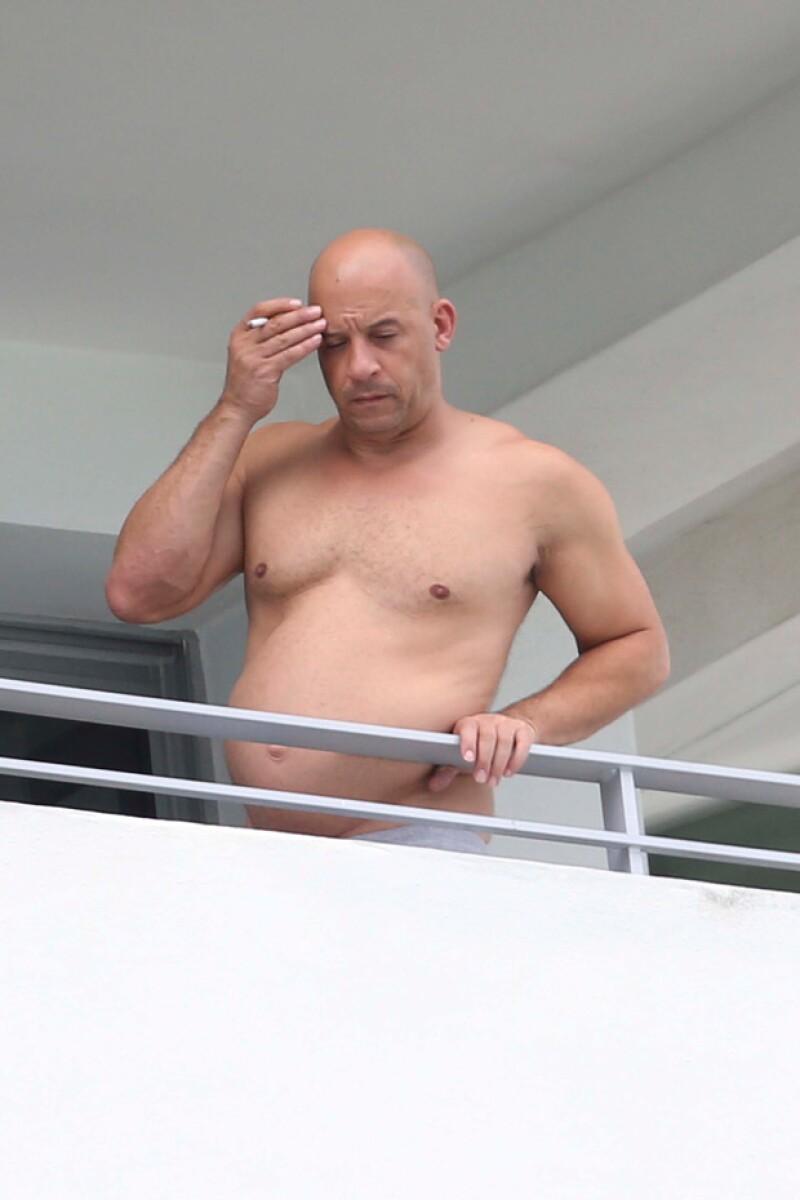 Así fue como los paparazzi captaron al actor durante su estancia en Miami.
