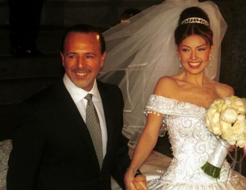 El día de su boda, el 2 de diciembre del 2000.