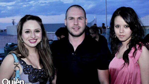 Selene Salázar, Rodolfo Martínez y Lorena Castorena