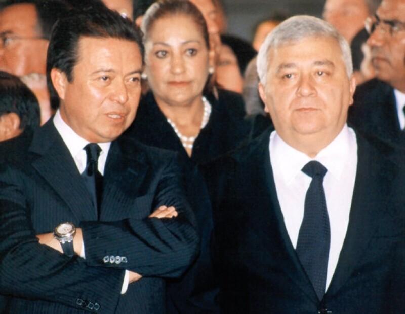 OBSERVADORES. César Camacho Quiroz y Emilio Chuayffet, ambos ex gobernadores del Estado de México.