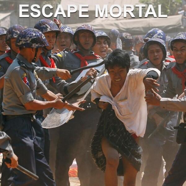 policia myanmar manifestacion