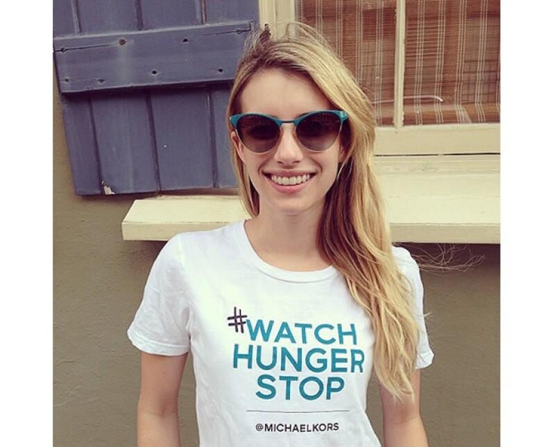 Varias celebs como Emma Roberts compartieron su apoyo a la causa vía Instagram