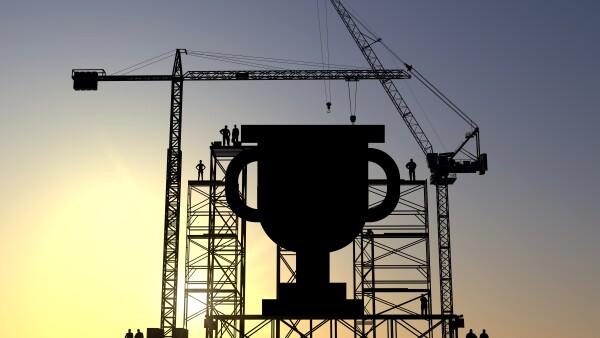Trophy construction site