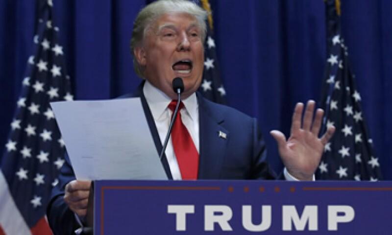 Donald Trump causó polémica con el discurso que pronunció al postularse como candidato a la Casa Blanca. (Foto: Reuters )