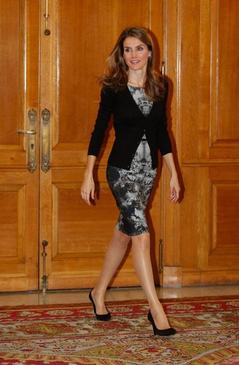 En Oviedo del 2013, en el evento donde por primera vez lució el vestido Hugo Boss.