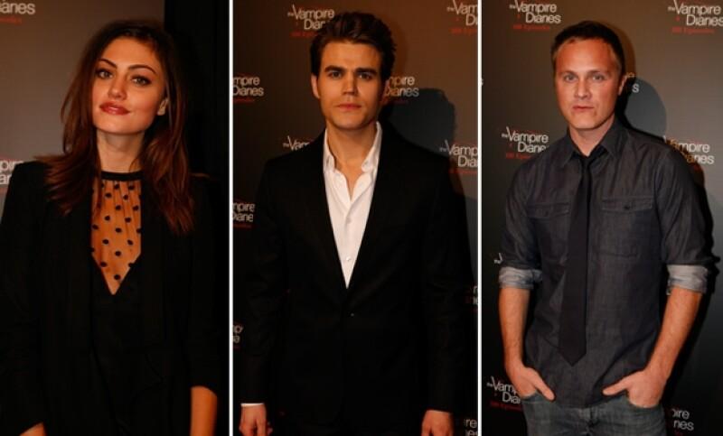 Phoebe Tonkin, Paul Wesley y David Anders platicaron con Quién.com sobre su experiencia trabajando en la serie.