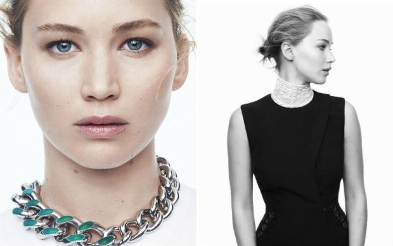 En la semana de estreno de su nueva película, la actriz repite como imagen de la casa de modas, mostrando algunas prendas de la próxima colección, resaltando su rostro al natural.