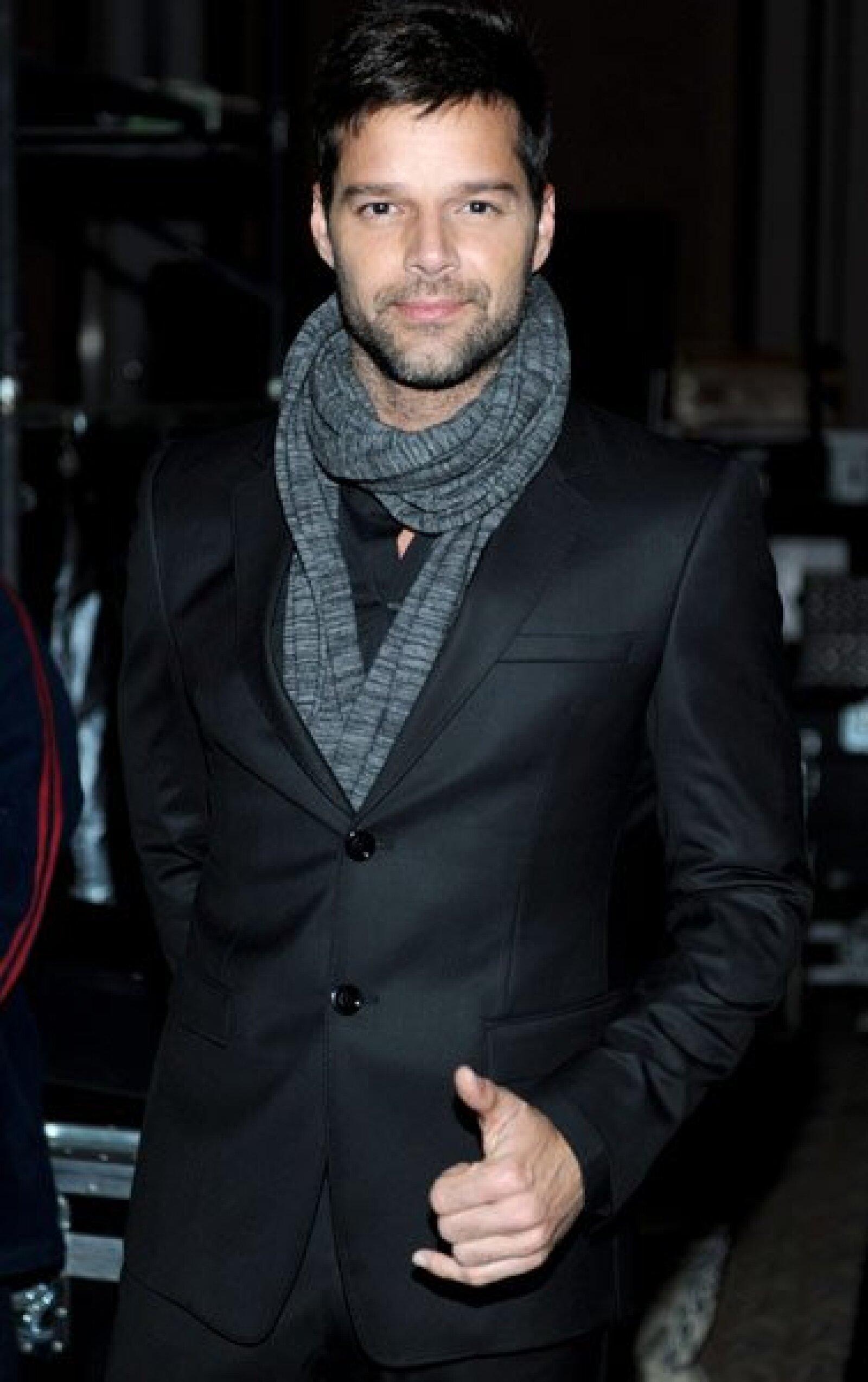 Ricky Martin fue el encargado de entregarle el reconocimiento.