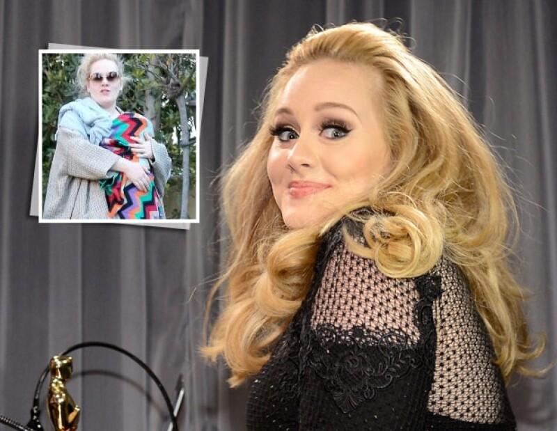 Adele ha sido cien por ciento hermética, no conocemos siquiera el nombre del bebé.