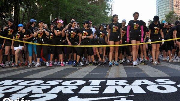 Salida de la carrera organizada por Nike