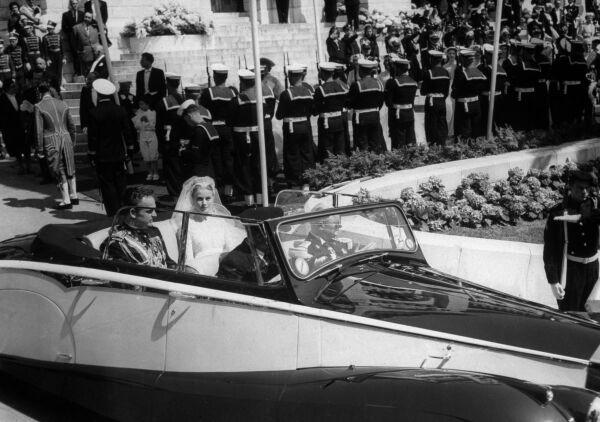 El príncipe Rainier III y Grace Kelly