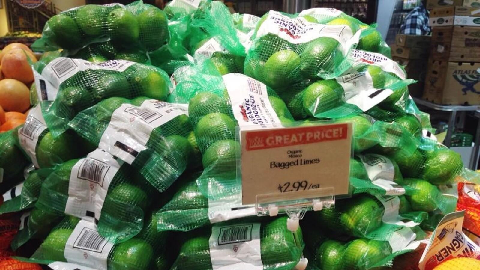 Esta bolsa con unos 8 limones orgánicos importados desde México alcanza en Washington DC