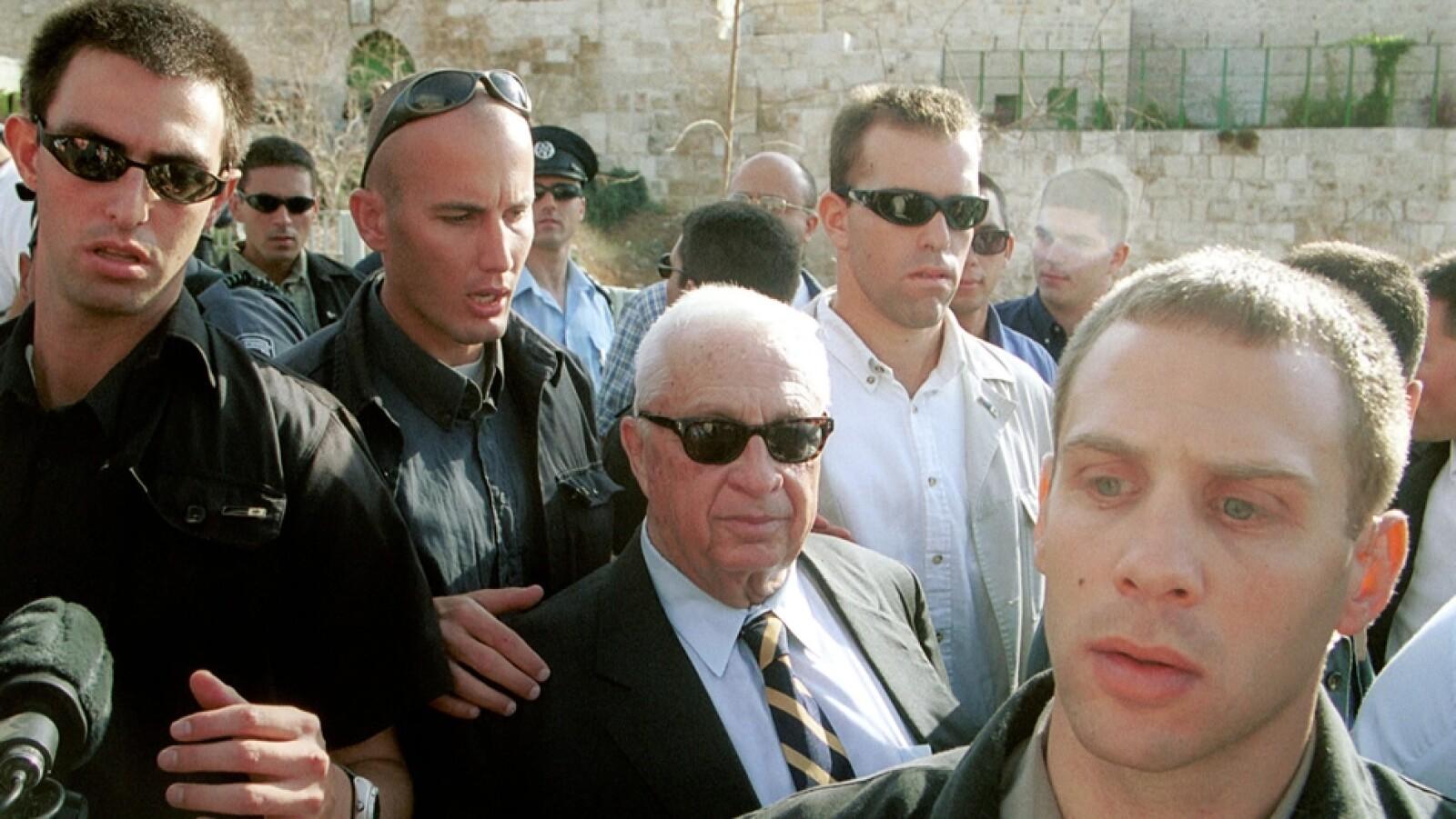 visita de sharon al monte del templo de jerusalen