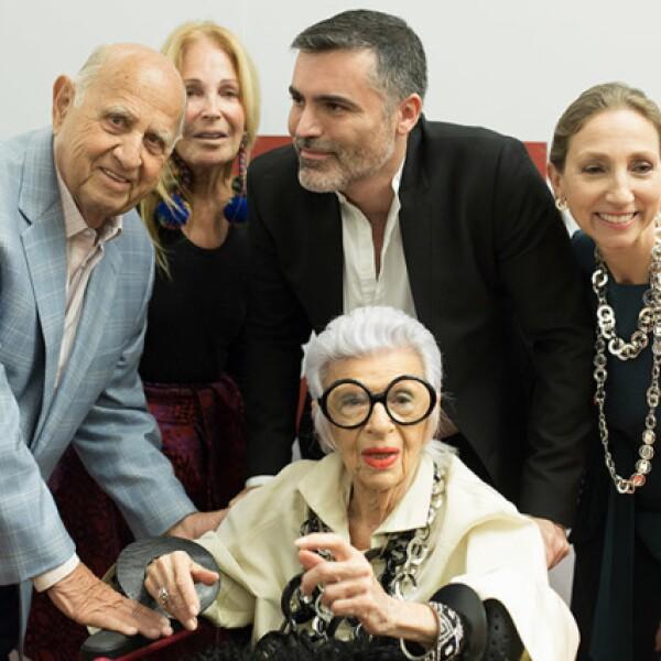 Mauricio Berger, Barbara Berger, Nino Bauti, Iris Apfel y Sylvie Ligonie