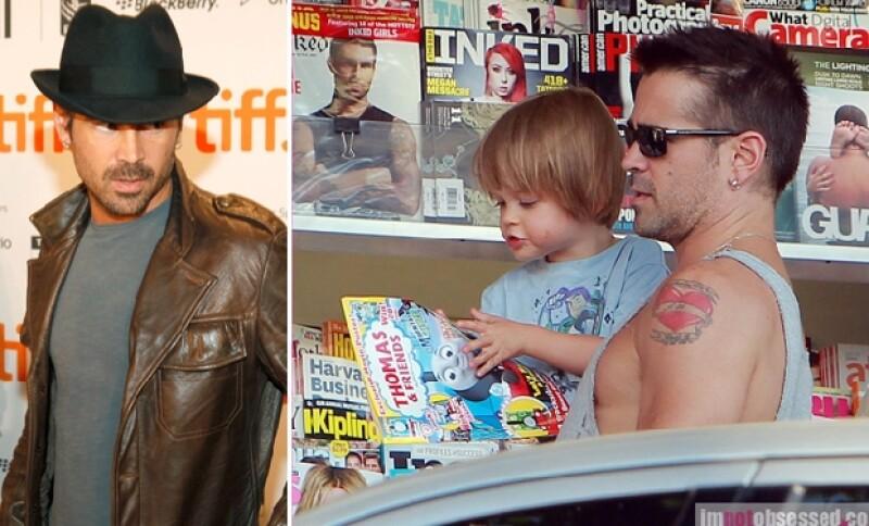 Colin Farrell es uno de los `bad boys´que logró superar sus adicciones y formar una familia.