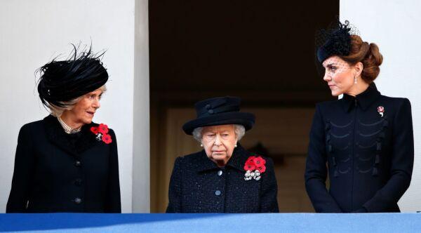 Camilla, Elizabeth II y Kate