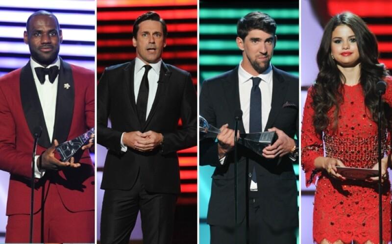 Michael Phelps, Serena Williams y LeBron James fueron los atletas favoritos de la noche; y entre los invitados de honor figuraron Selena Gomez, Ben Affleck y Jon Hamm como presentadores.