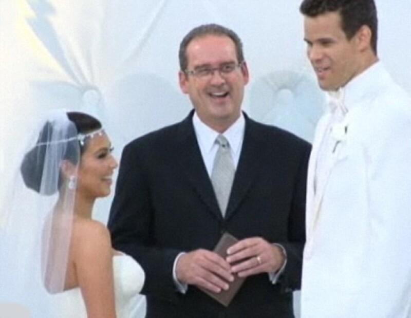 Kim y Kris tenían siete meses de relación hasta el momento de jurarse amor eterno.