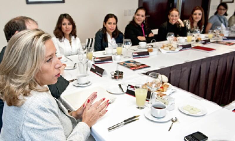 Nicole Reich, presidenta de Scotiabank México, recomendó a 12 ejecutivas que siempre estén preparadas para cualquiera oportunidad. (Foto: Alejandro Hernández Olvera)