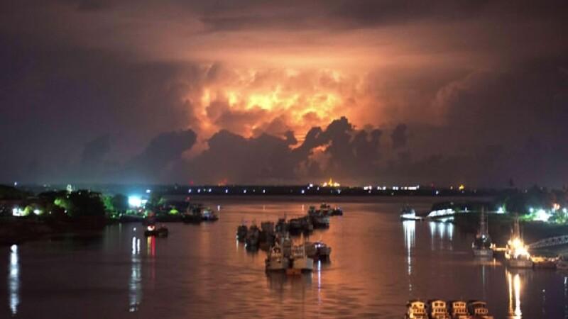 myanmar, tormenta, paisaje