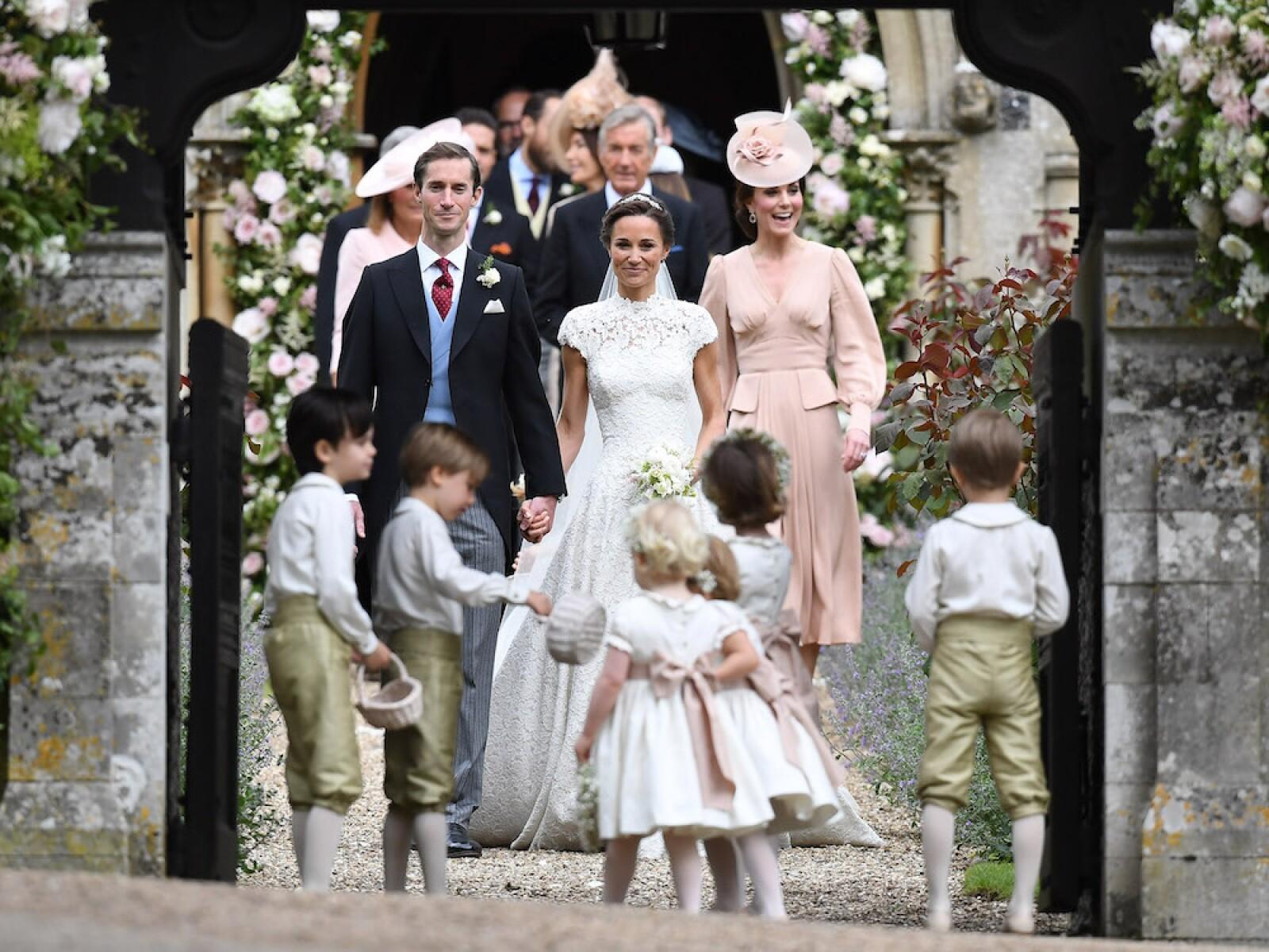 James Mathews, Pippa y Kate Middleton