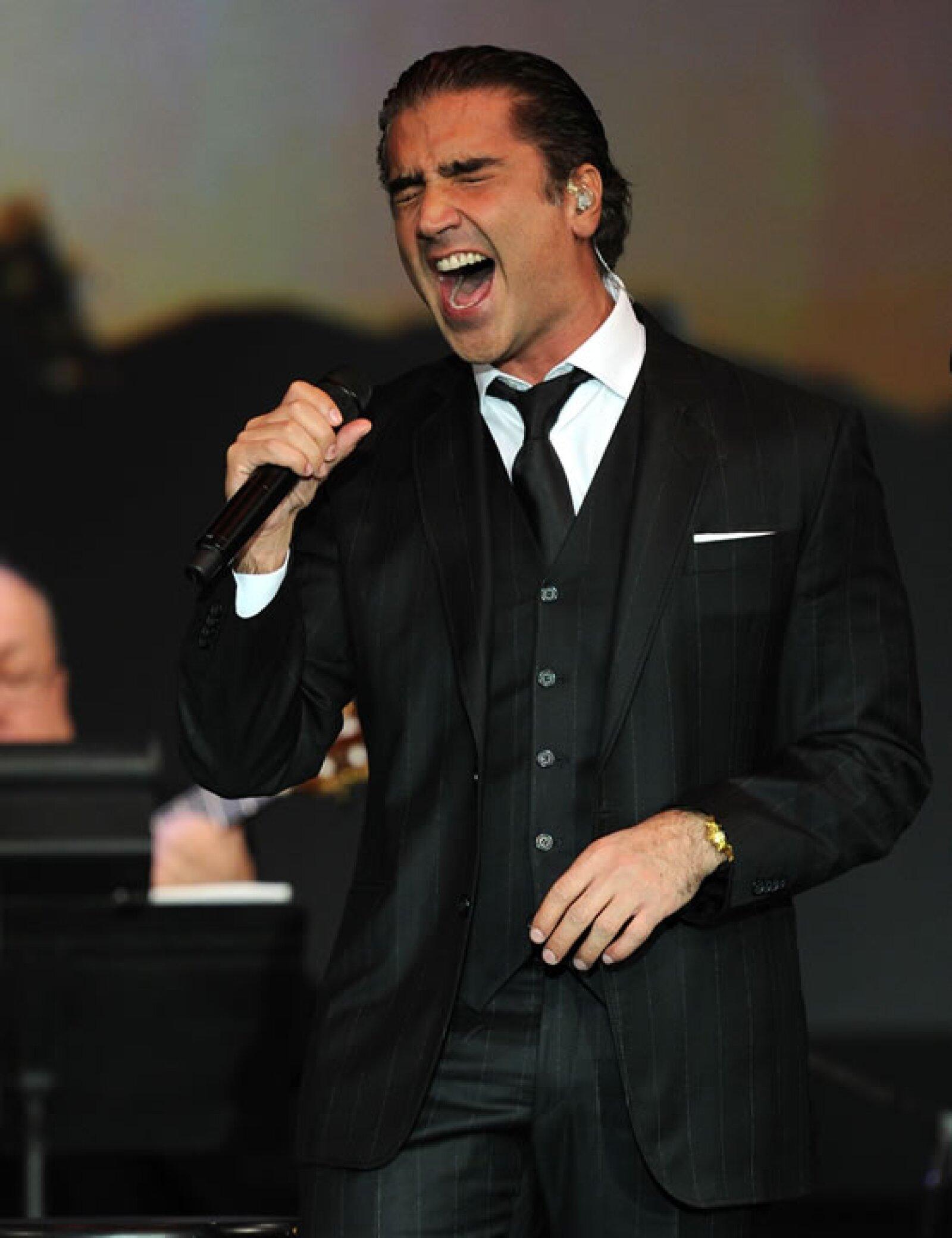 En 2010 en concierto con Plácido Domingo.