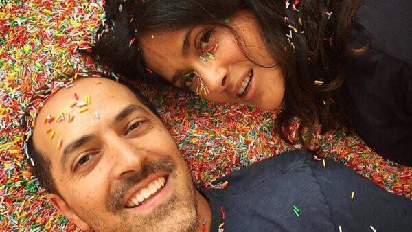 Salma Hayek y su hermano Sami