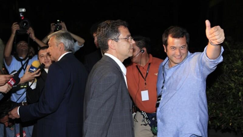 José Ramón López Beltrán visitó Expansión junto con su padre para los foros que CNNMéxico hizo con todos los candidatos.