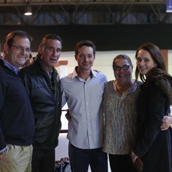 Enrique Pallares,Jaime Anaya,César Rodríguez,Karla Rodríguez y Bárbara Jiménez