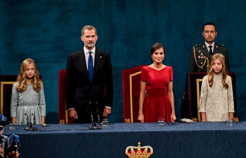 Princesa Leonor y el rey Felipe VI