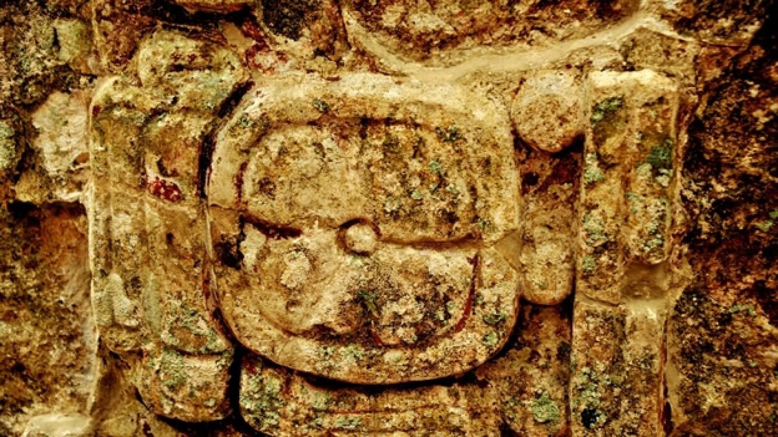 aspecto de una estela en chactun