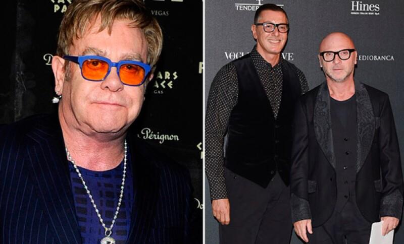 Los diseñadores aseguraron que su intención no es la de juzgar cómo se forma una familia, pero por otro lado en sus redes sociales se mantienen en contra y atacan a Elton John.