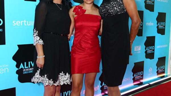 María de los Ángeles González Flores, Blanca Susana Saavedra y Lupita Ramírez