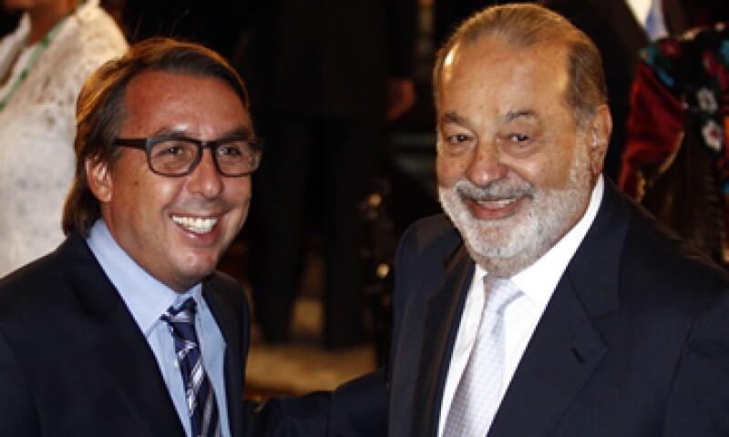 Azcárraga y Slim compiten directamente en el sector de las telecomunicaciones. (Foto: Cuartoscuro)