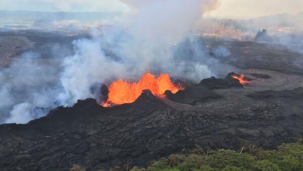 Imágenes aéreas de los daños ocasionados por la actividad del volcán Kilauea