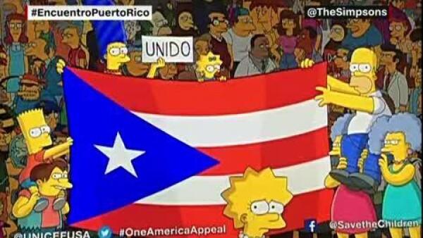 Los Simpson se solidarizan con Puerto Rico, tras el paso del huracán María