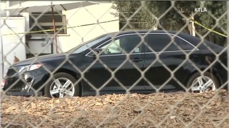 El vehículo en el que murió el menor de edad en California el miércoles