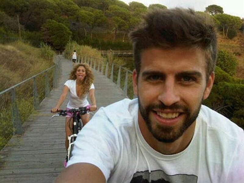 Shakira y Piqué disfrutan hacer deporte juntos.