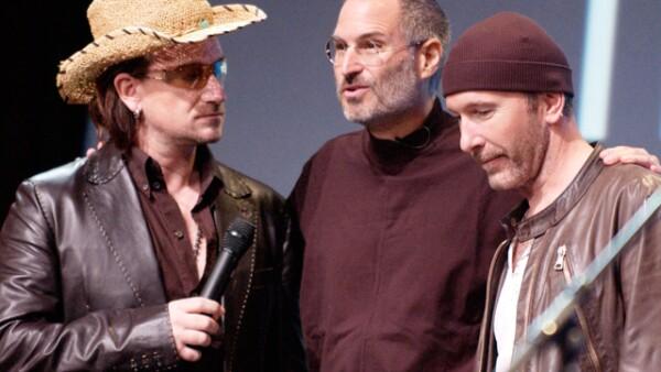 Bono, Steve Jobs y The Edge