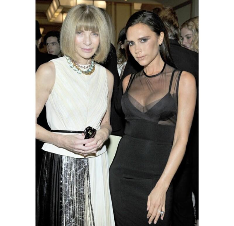 Anna Wintour y Victoria Beckham, juntas en gala de Vogue Fashion Fund.
