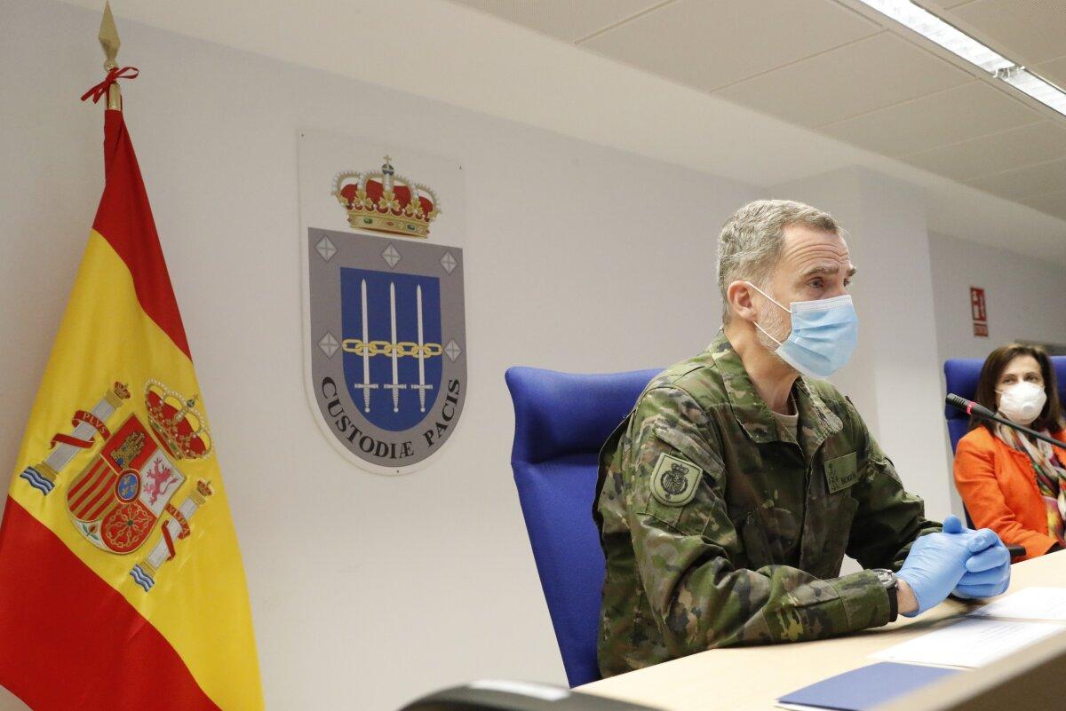 El mensaje de apoyo del rey Felipe a los militares en plena crisis en España