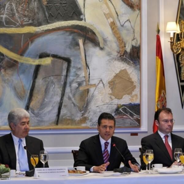 enrique peña nieto en reunion con empresarios españoles