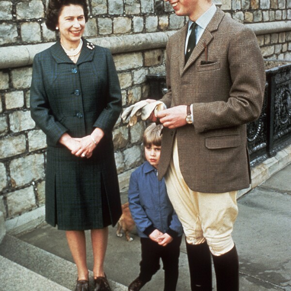 GBR: Queen Elizabeth II with Prince Charles, the Prince of Wales and Prince Edward