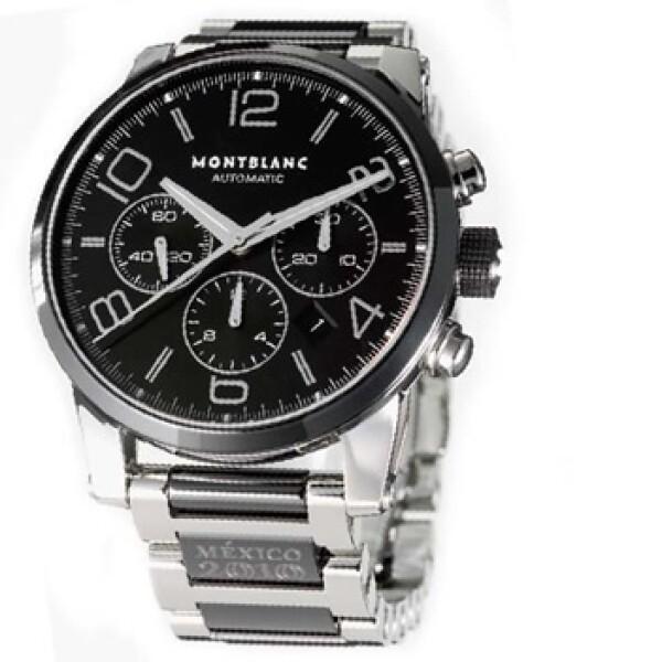 El reloj de Montblanc cuenta con cronógrafo automático, caja y brazalete de acero.