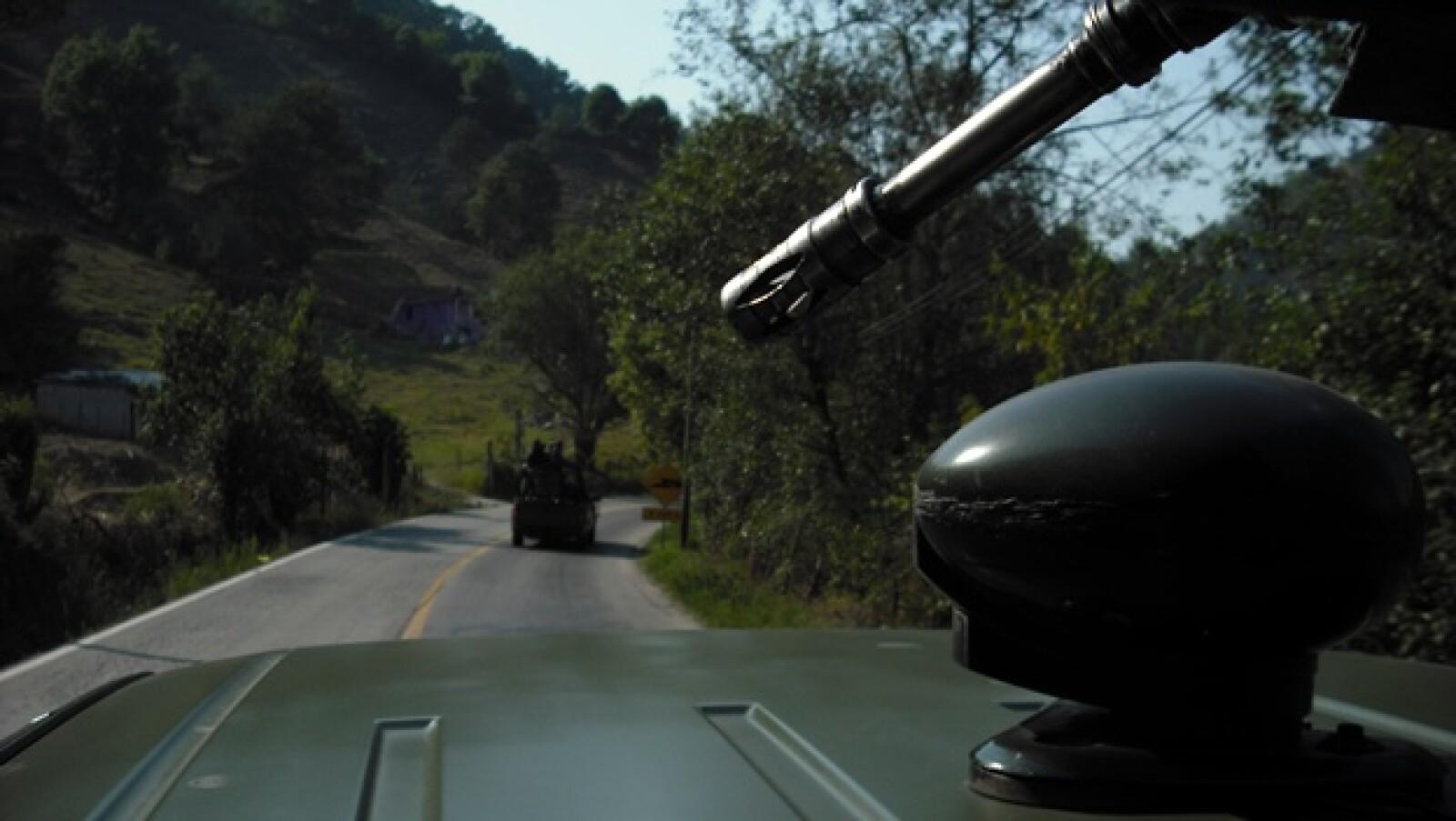 Para la población en Hidalgo e común que el Ejército patrulle las principales carreteras que llevan a la Huasteca y Sierra del estado