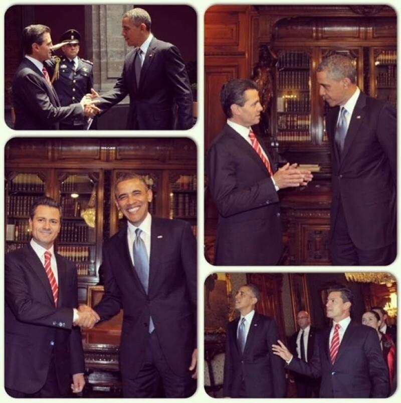 El presidente de Estados Unidos agradeció en español a Enrique Peña Nieto al inicio de su reunión llevada a cabo en Palacio Nacional.