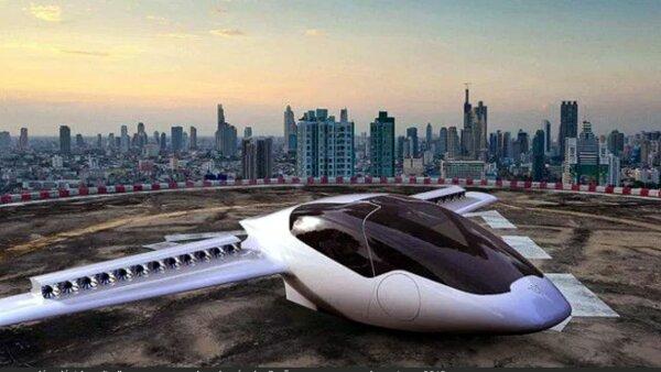 La aeronave con dos asientos puede ascender y descender verticalmente