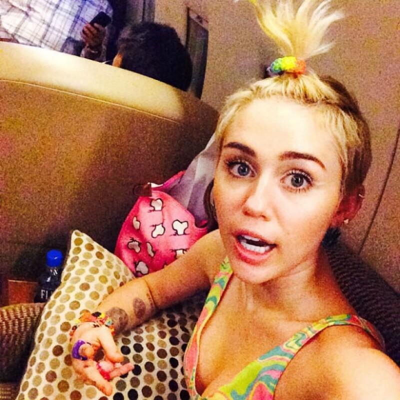 Desde que está soltera, Miley se ha dejado ver en una actitud libre y desenfrenada.