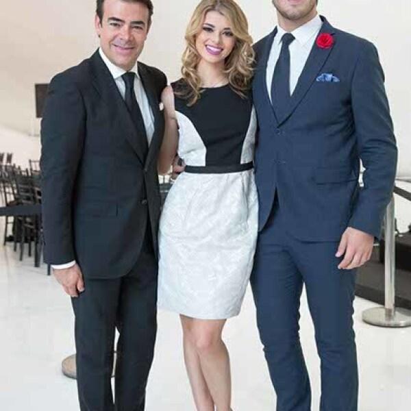 Toño Maury,Karla Maury y Santiago Sánchez