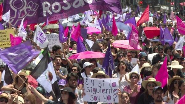 Miles de mexicanas claman justicia en la CDMX por el asesinato de Mara Castilla
